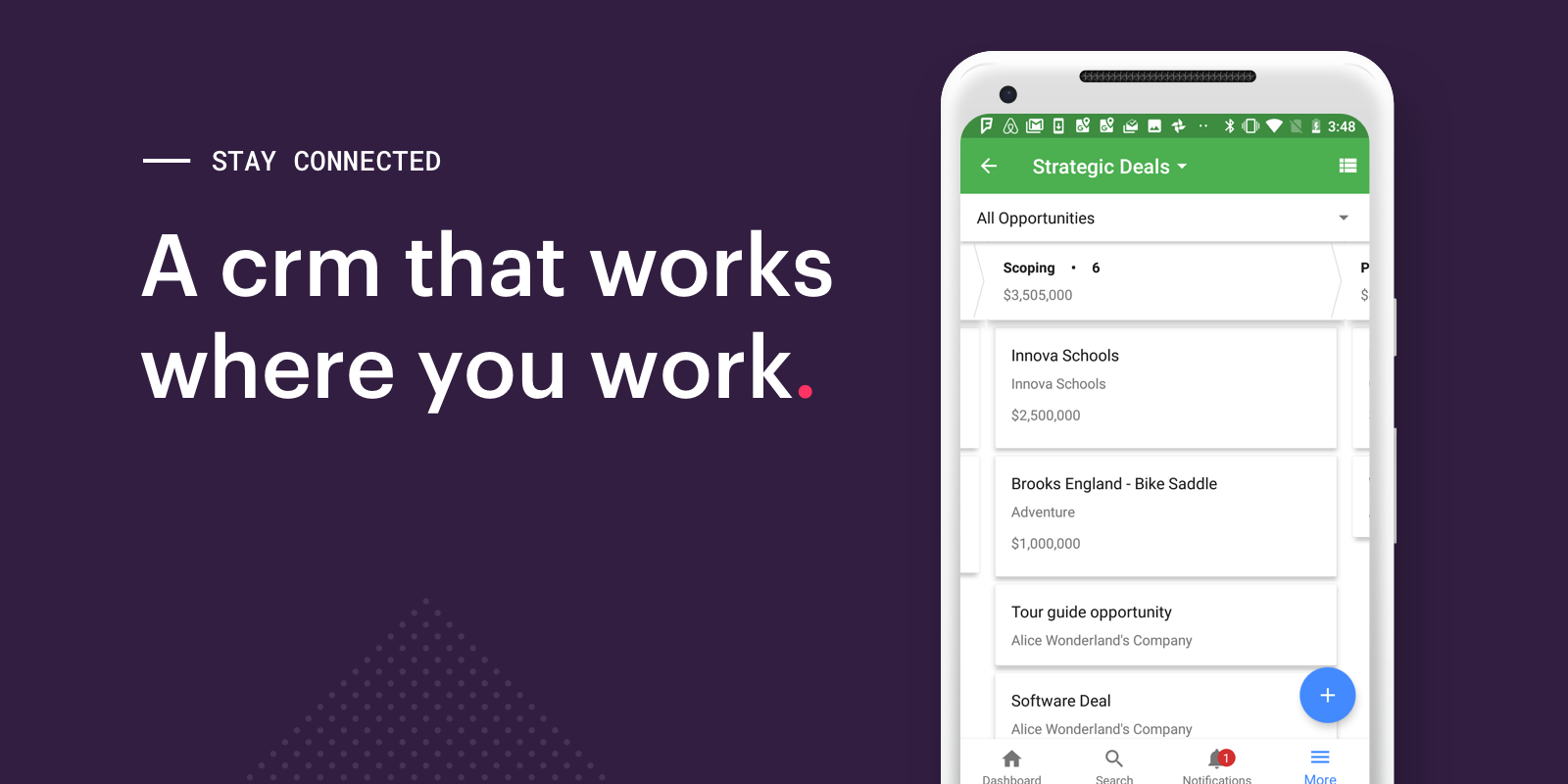 The Mobile CRM That Works Wherever You Work