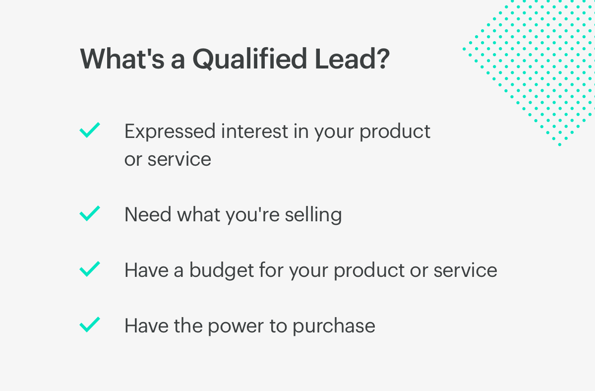 what's a qualified lead?