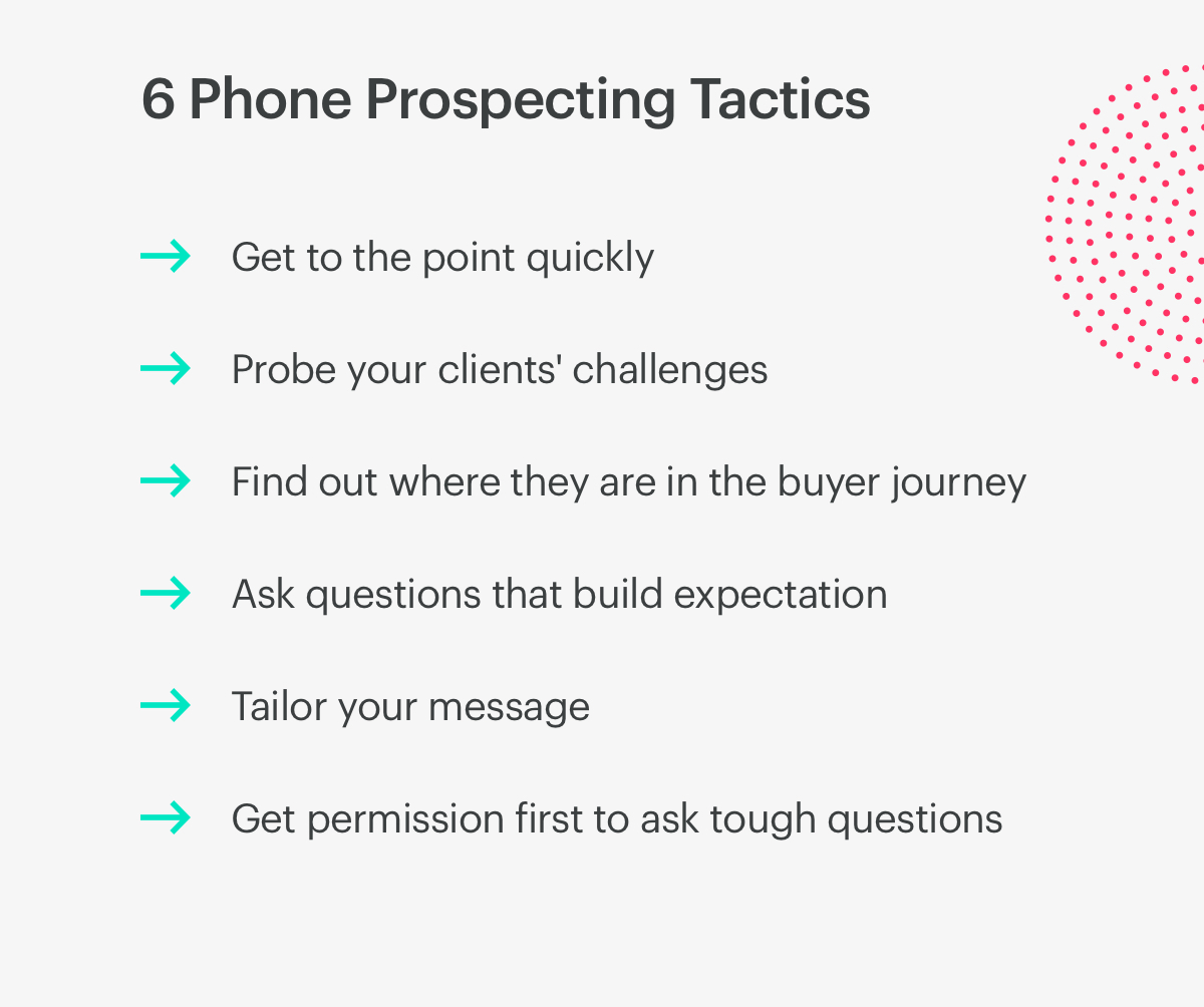 6 phone prospecting tactics.