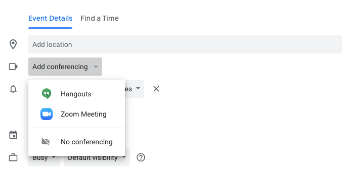 add zoom to google calendar