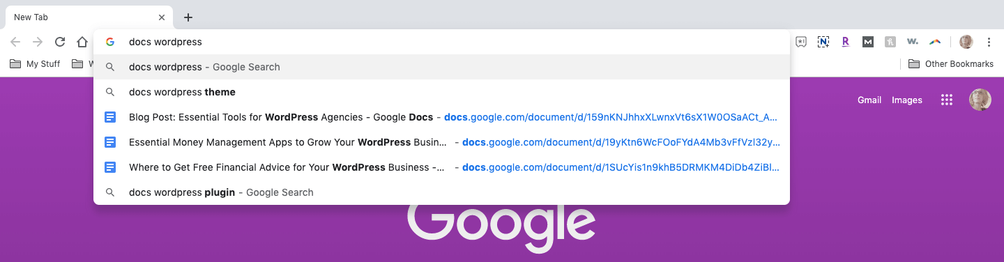 using chrome for google docs