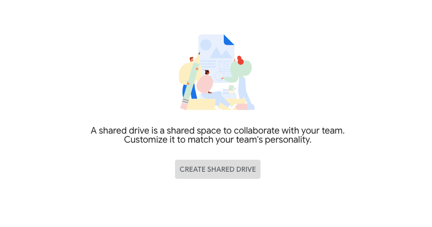 g suite shared drive creation