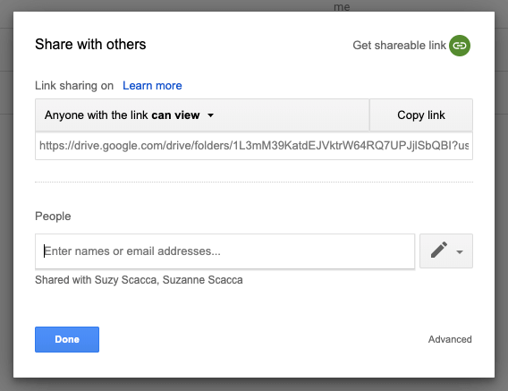 google drive sharing rights