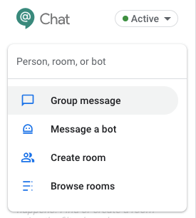 what you can do in hangouts chat