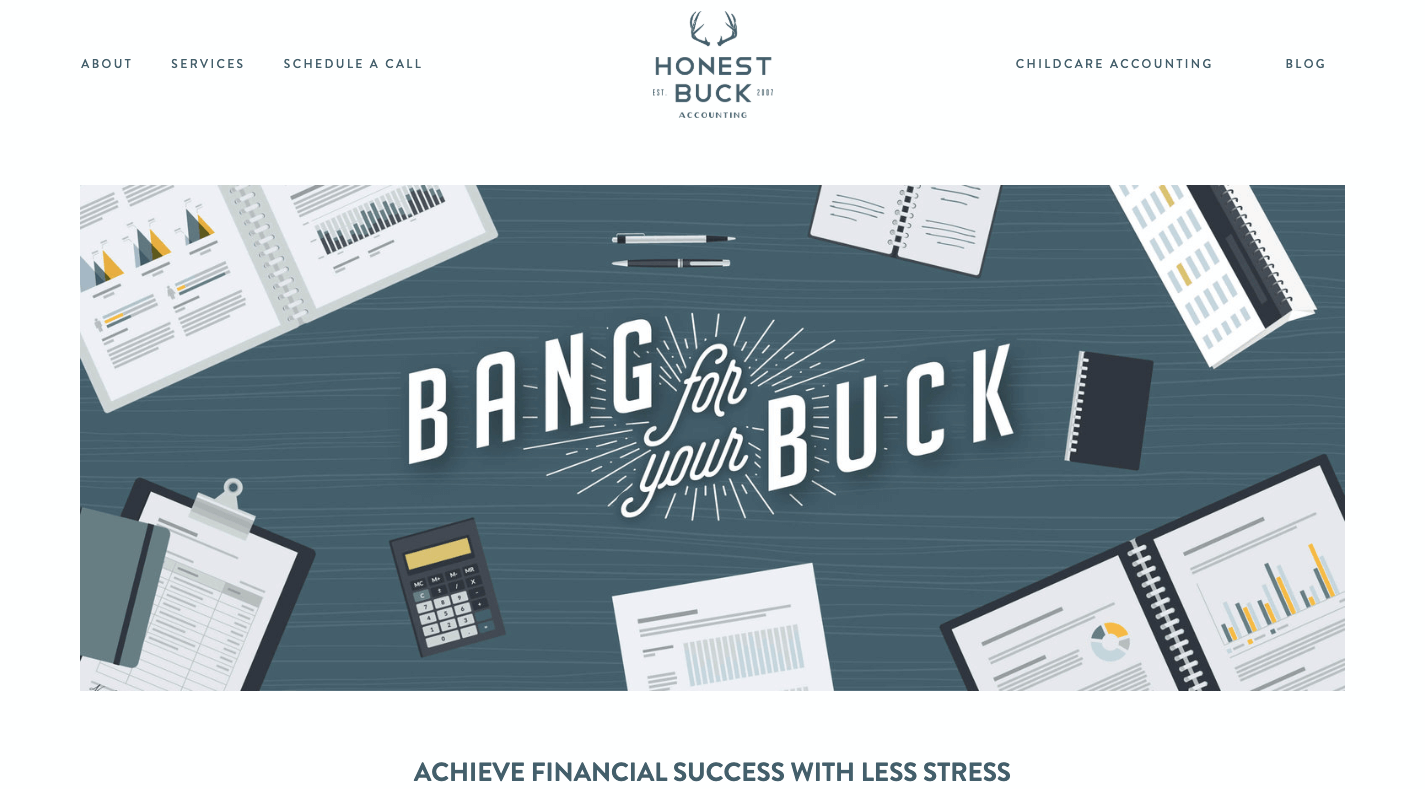 Honest Buck Accounting Website example