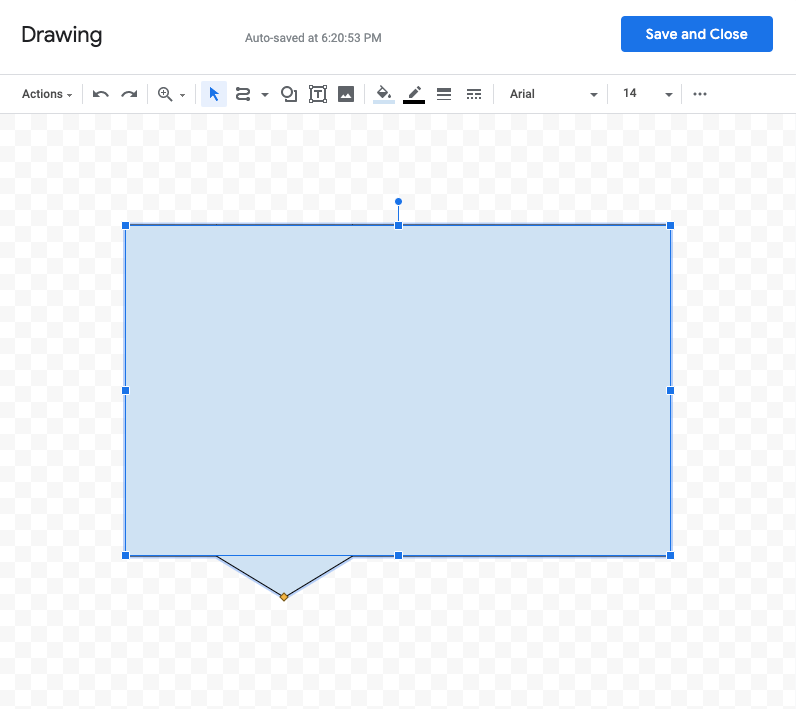 inserting a drawing into google docs