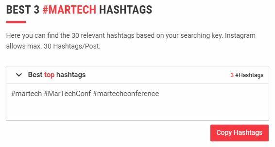 martech hashtags for social selling