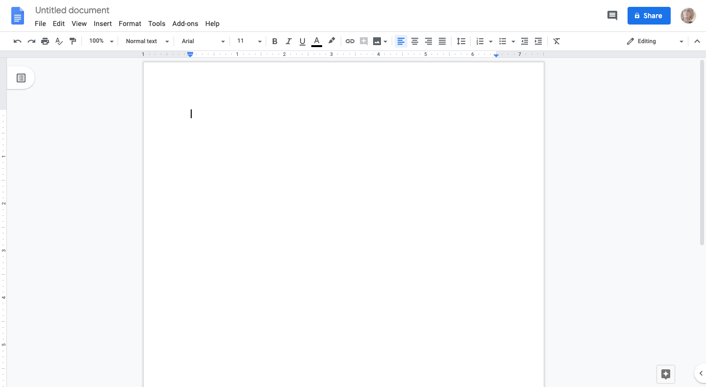 creating a new google doc