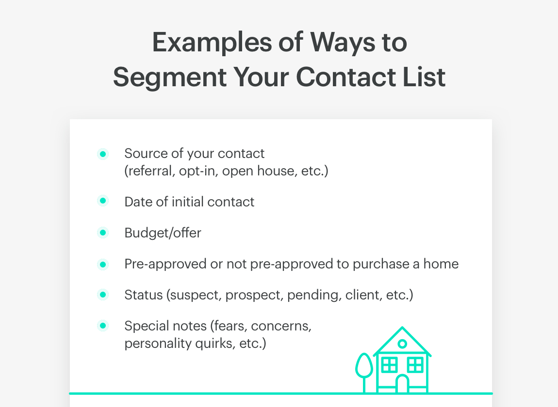 examples of ways to segment real estate contacts