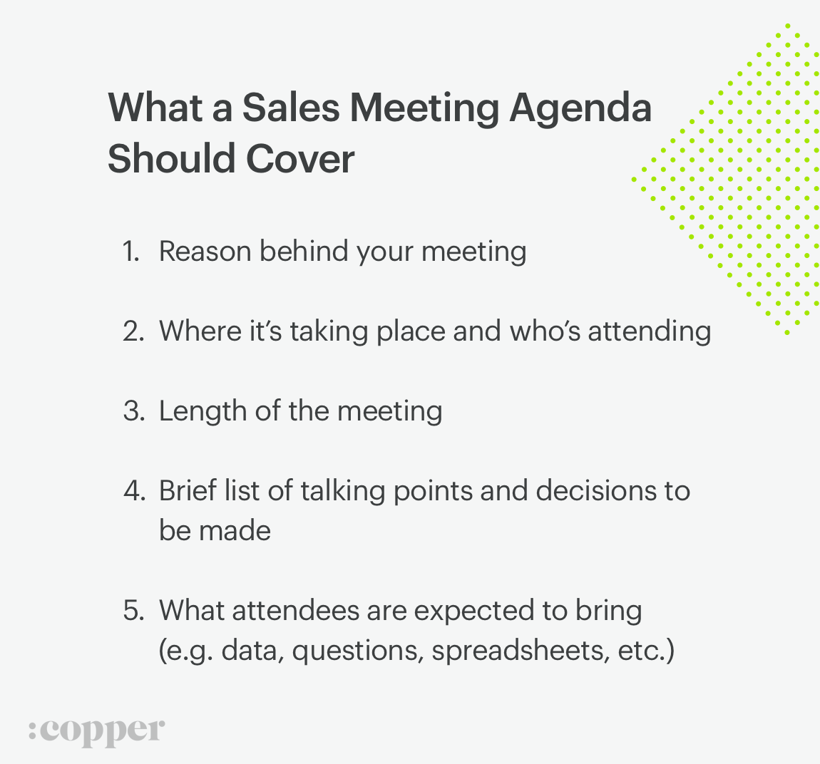 what sales meeting agendas should cover