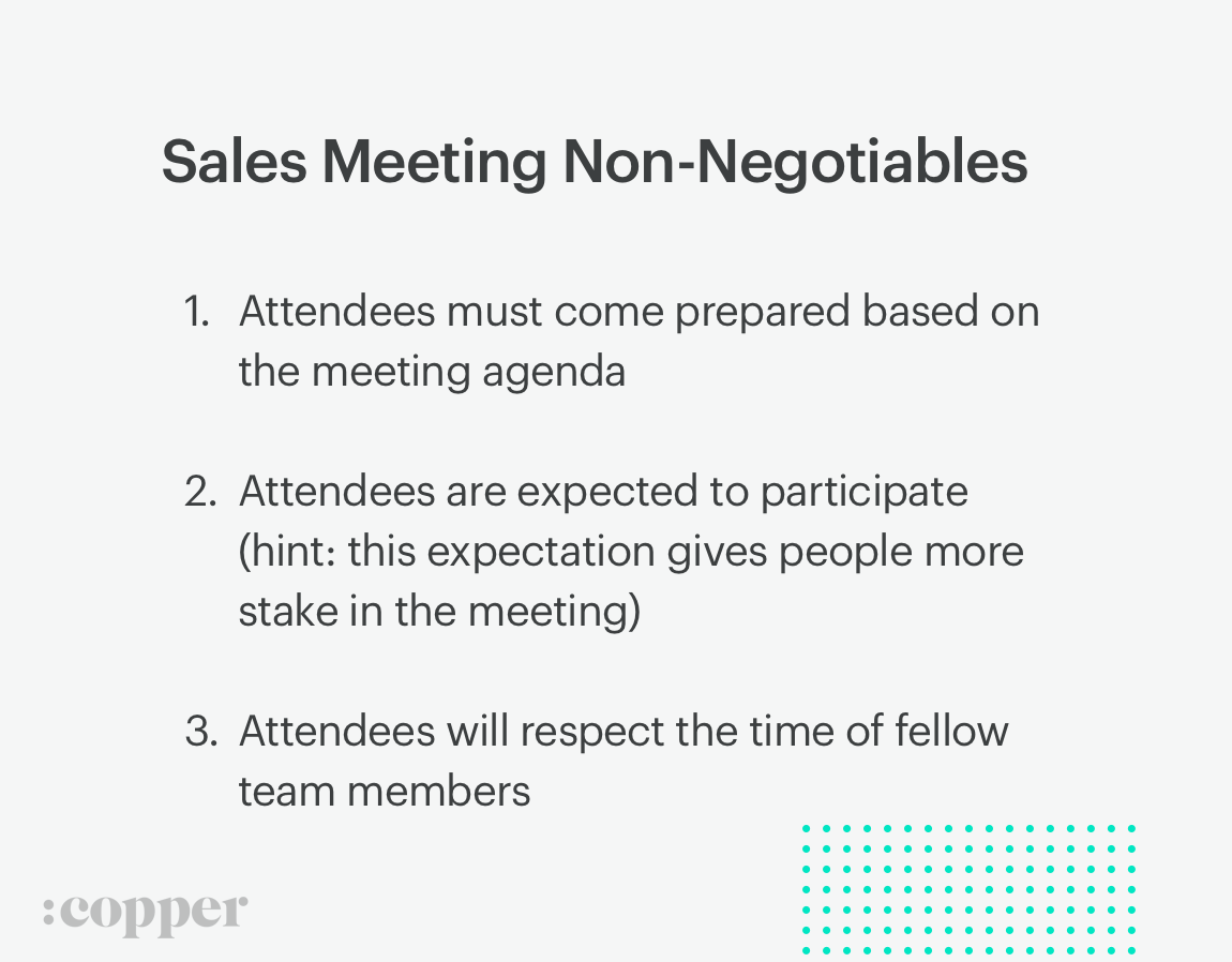 sales meeting non-negotiables