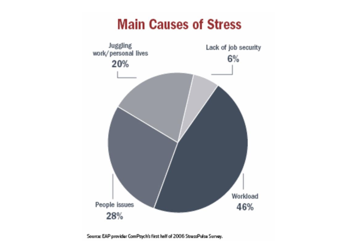 main causes of stress: burnout