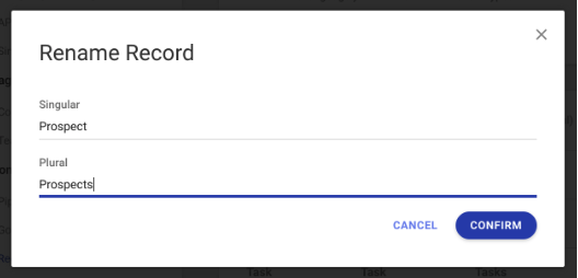 easily rename records in copper crm.