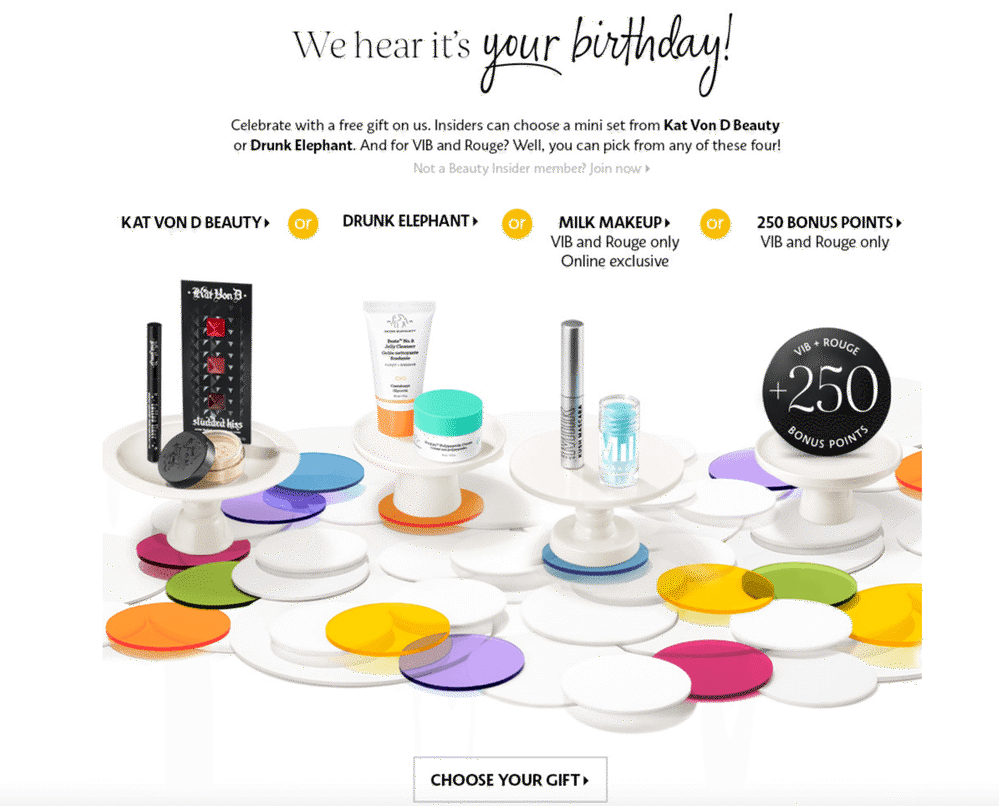 sephora birthday customer reward