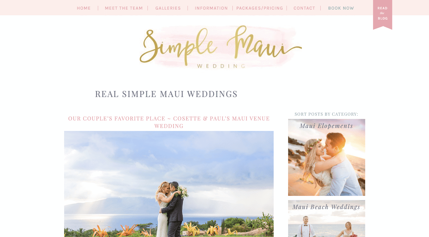 Simple Maui Wedding Blog