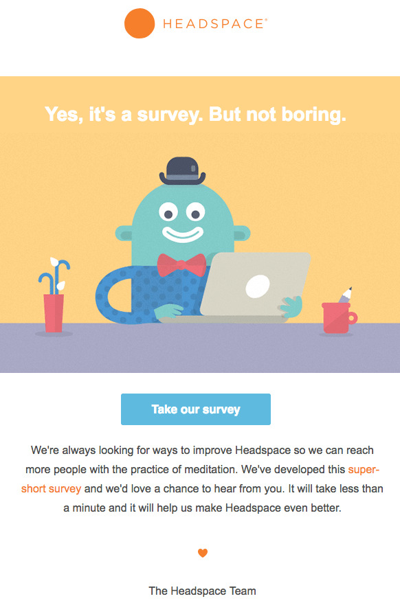 headspace engages customers through surveys