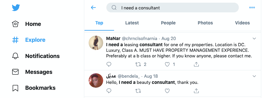 Twitter prospecting for consultants
