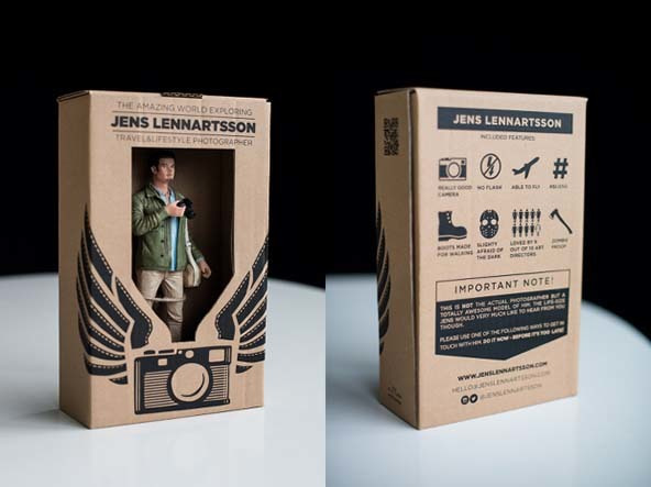action figure business card