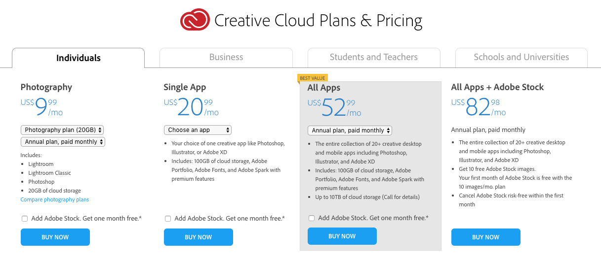 adobe's updated subscription model