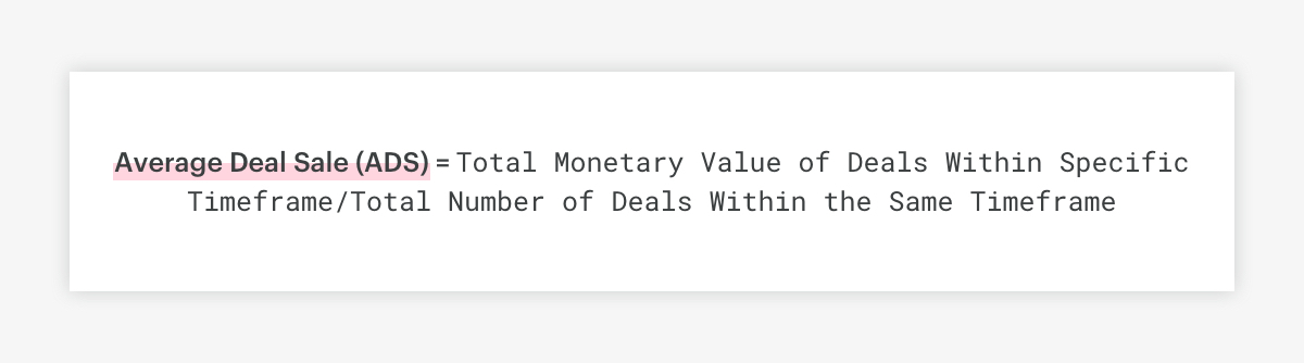 average deal size formula