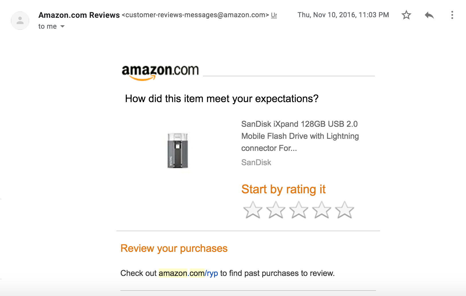 amazon asks for product reviews and feedback to gauge customer satisfaction