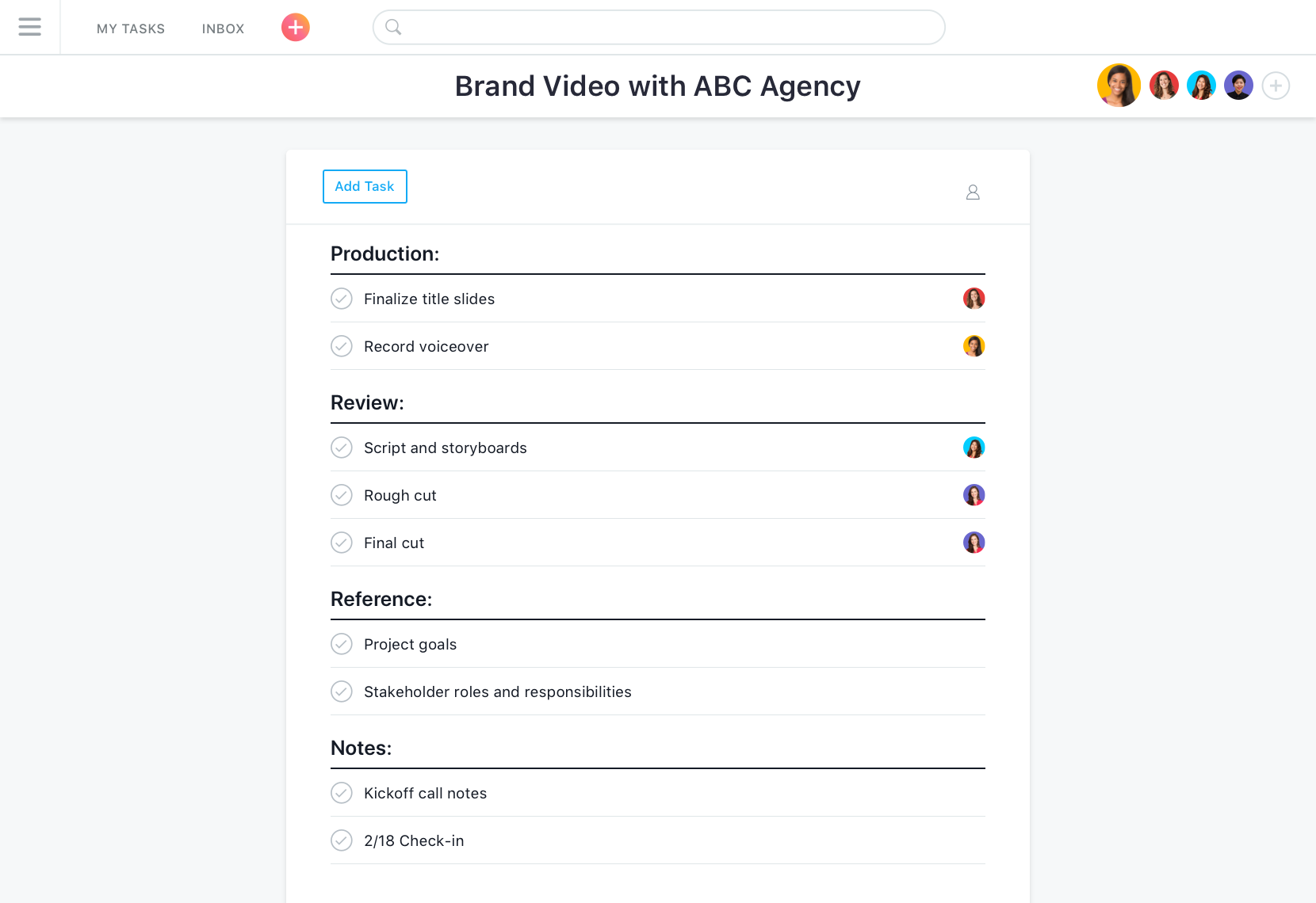 asana is a project management tool for creative agencies.