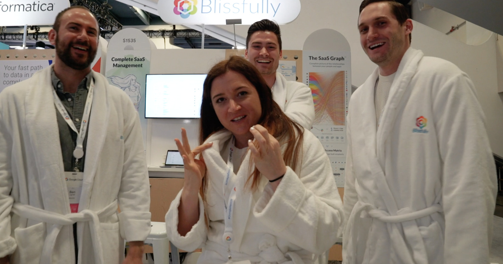 bathrobes at google next 2019