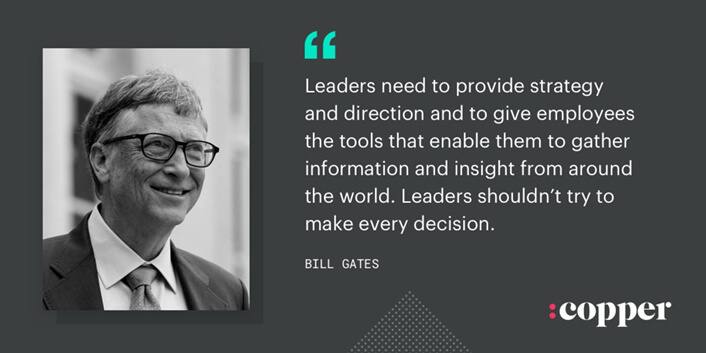 bill gates leader quote
