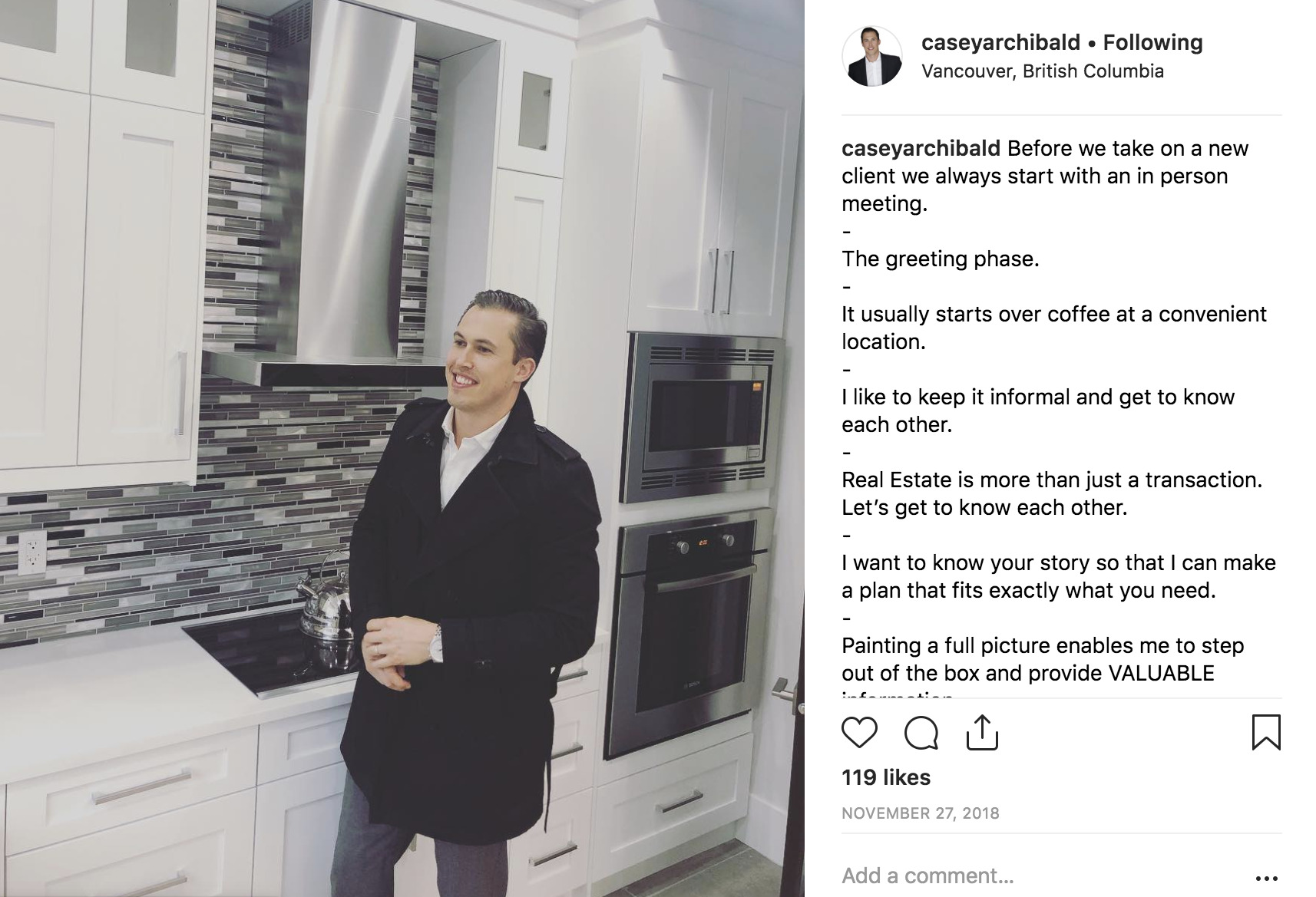 realtor instagram sales prospecting.