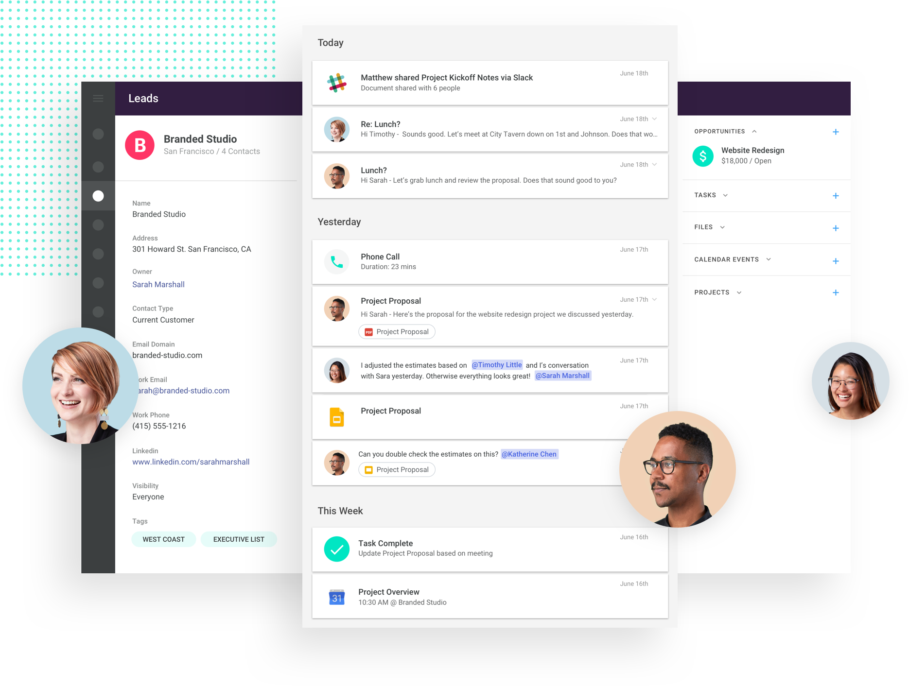 common crm collaboration features