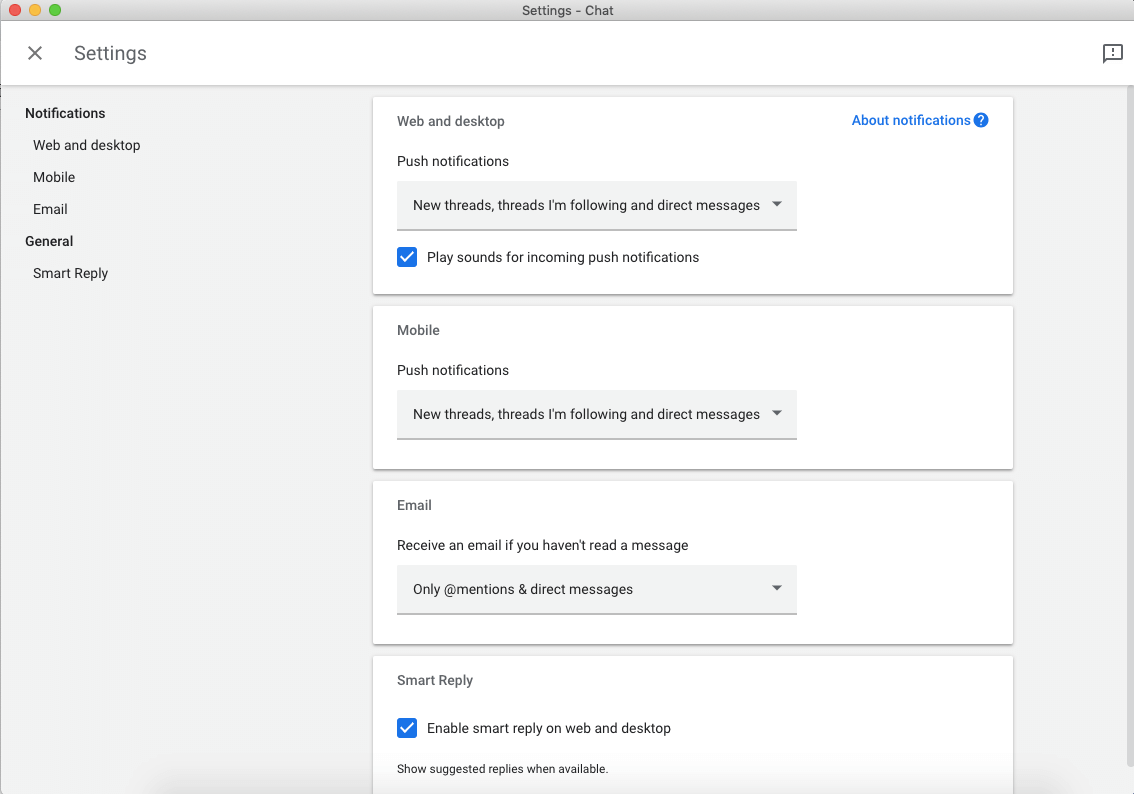 configuring hangouts notifications
