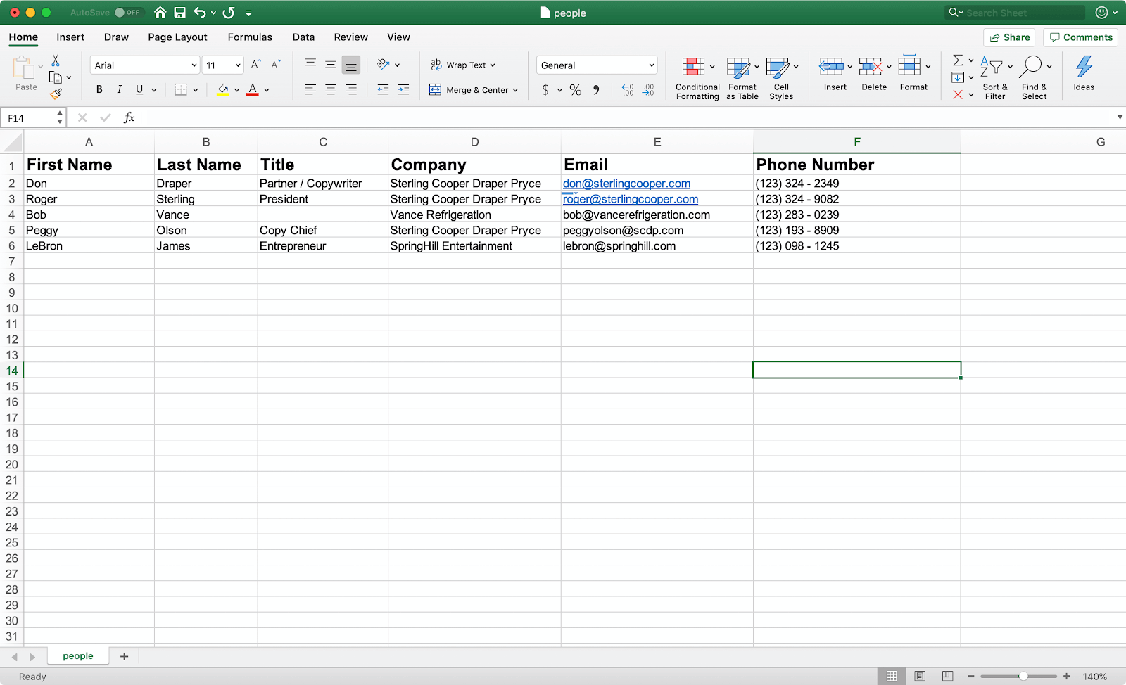contact spreadsheet for bulk email