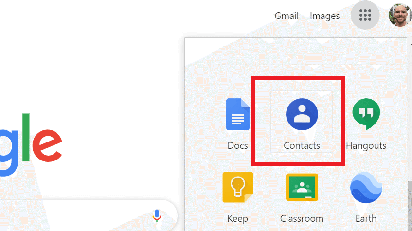 contacts in google apps