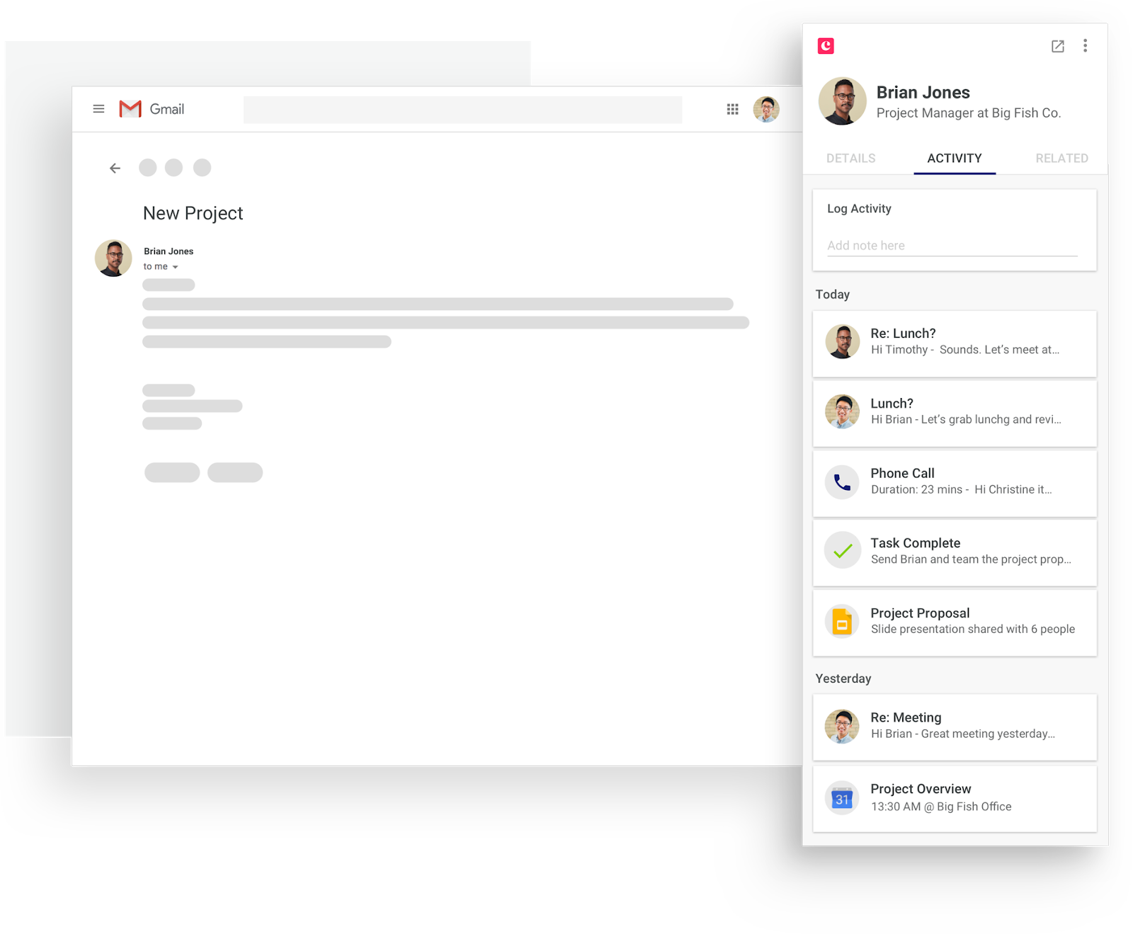 copper crm's integration with gmail