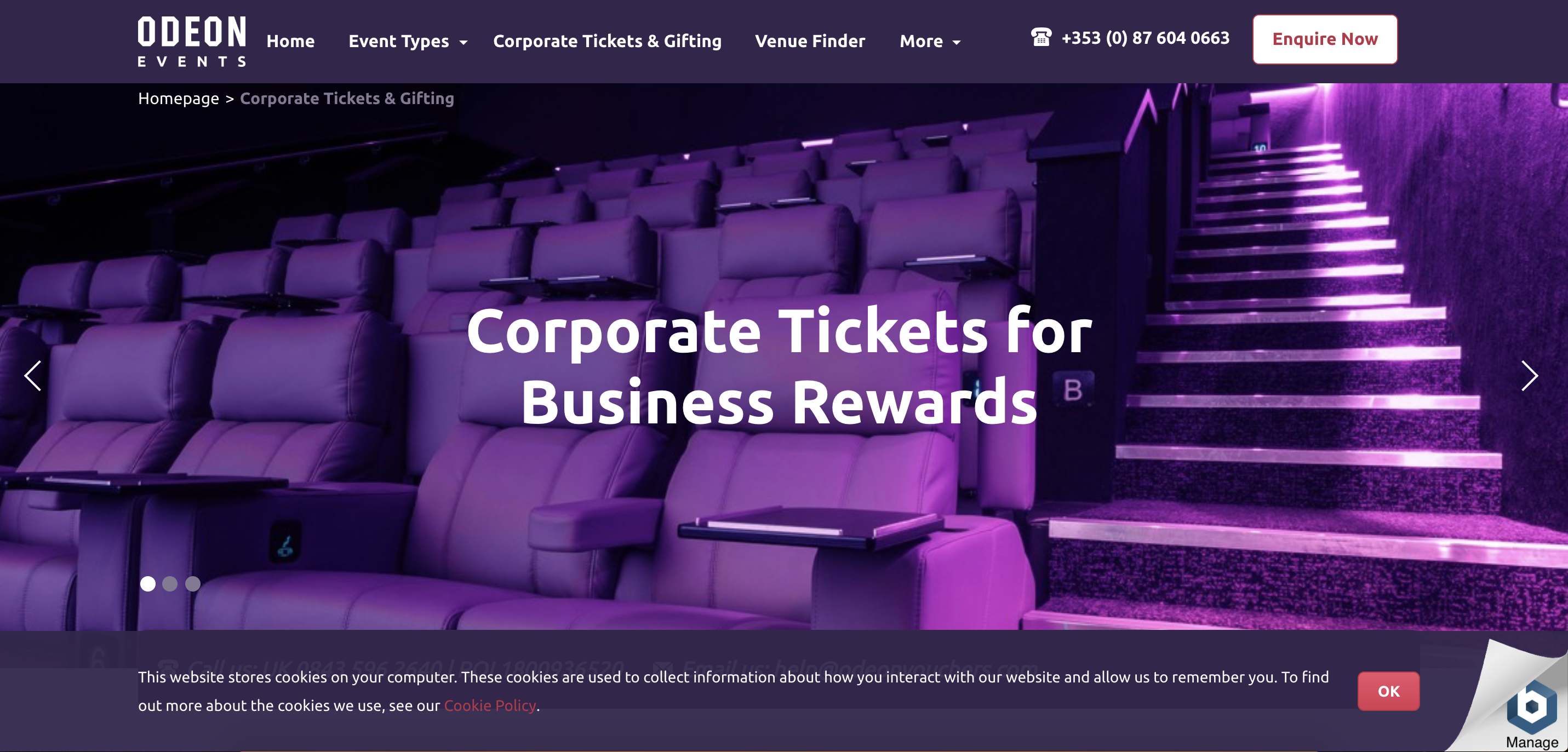 corporate tickets also make great sales incentives