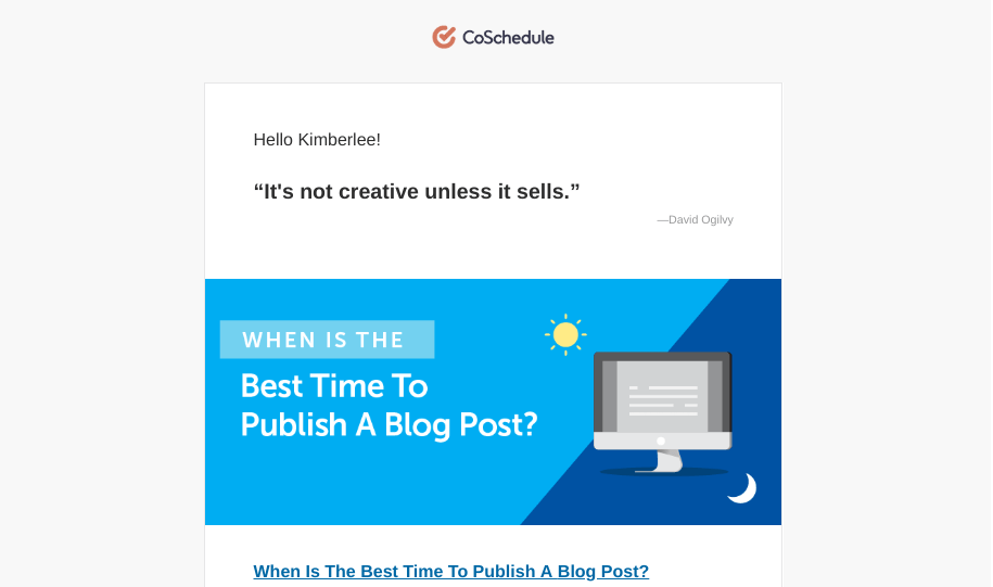 coschedule's educational email drip campaign