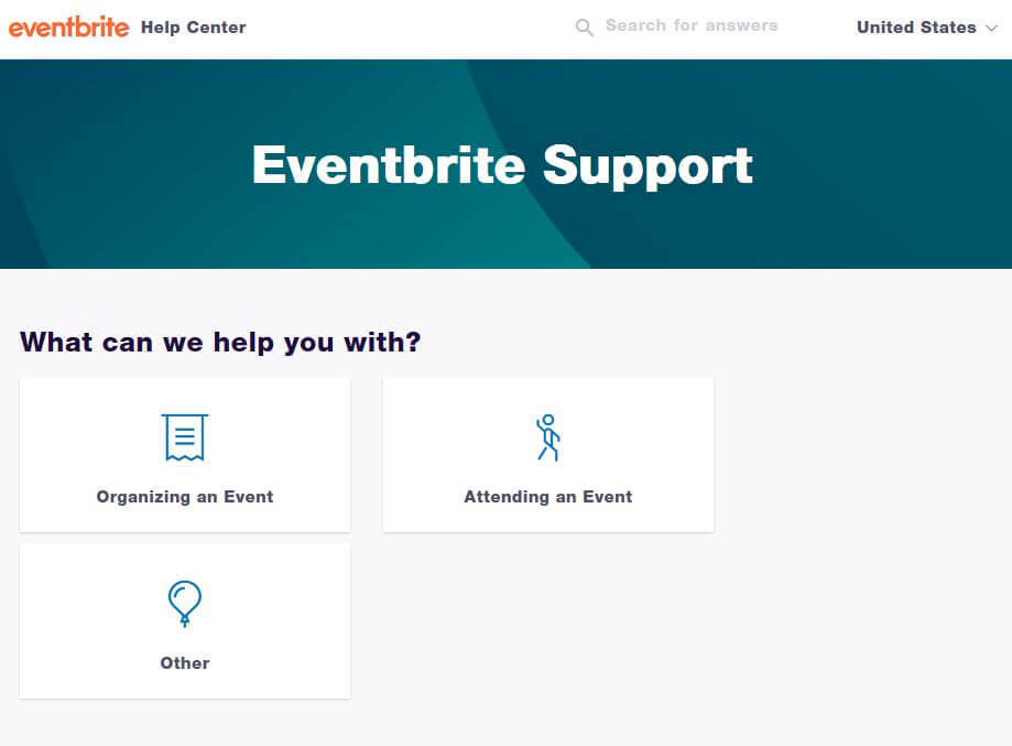 eventbrite knowledge base example