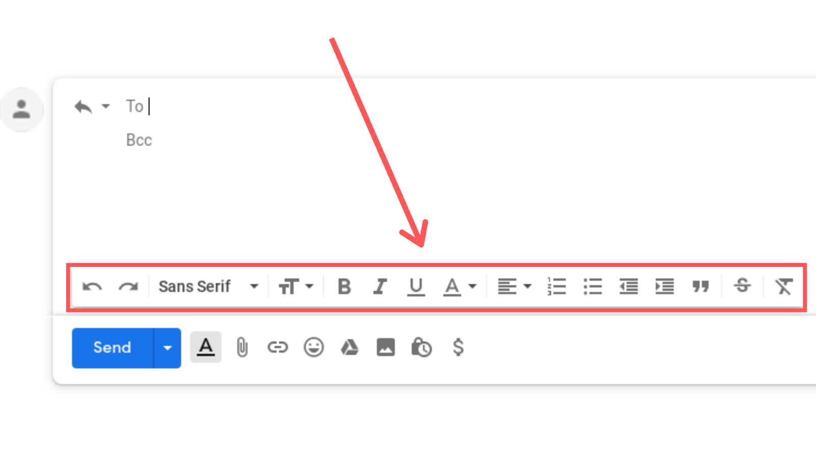 formatting emails in gmail