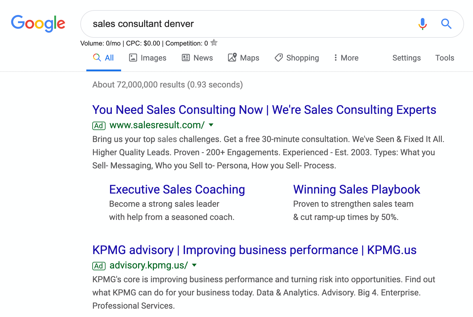 google ads for consultants