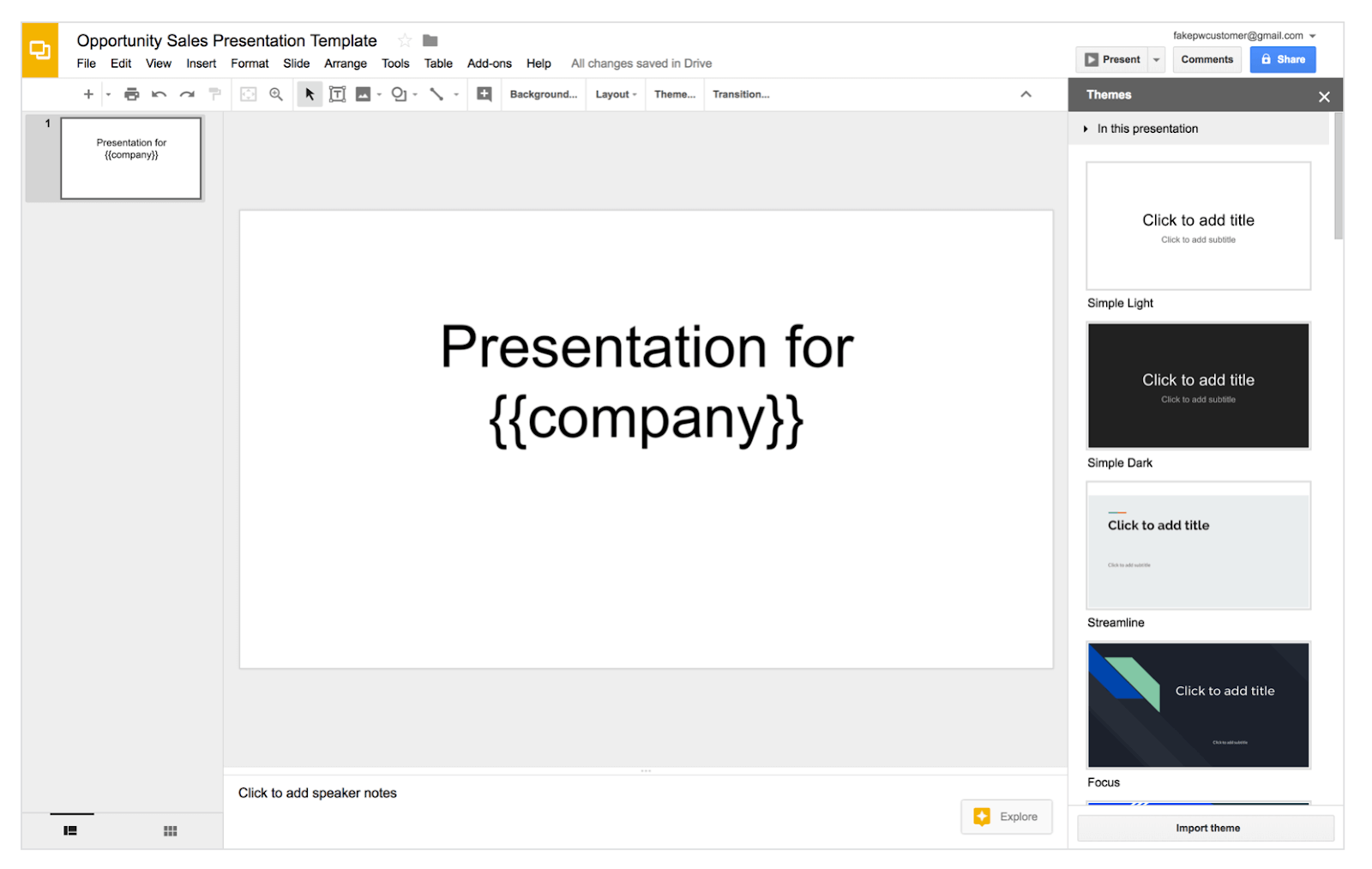 google slides copper integration