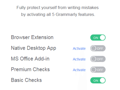 grammarly's drip email doubles as an upsell