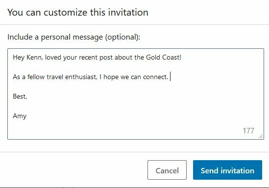 custom linkedin invitation