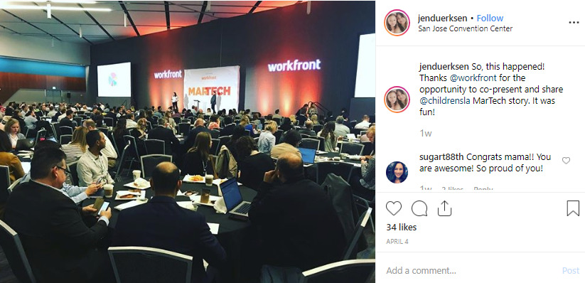 example of social selling on instagram