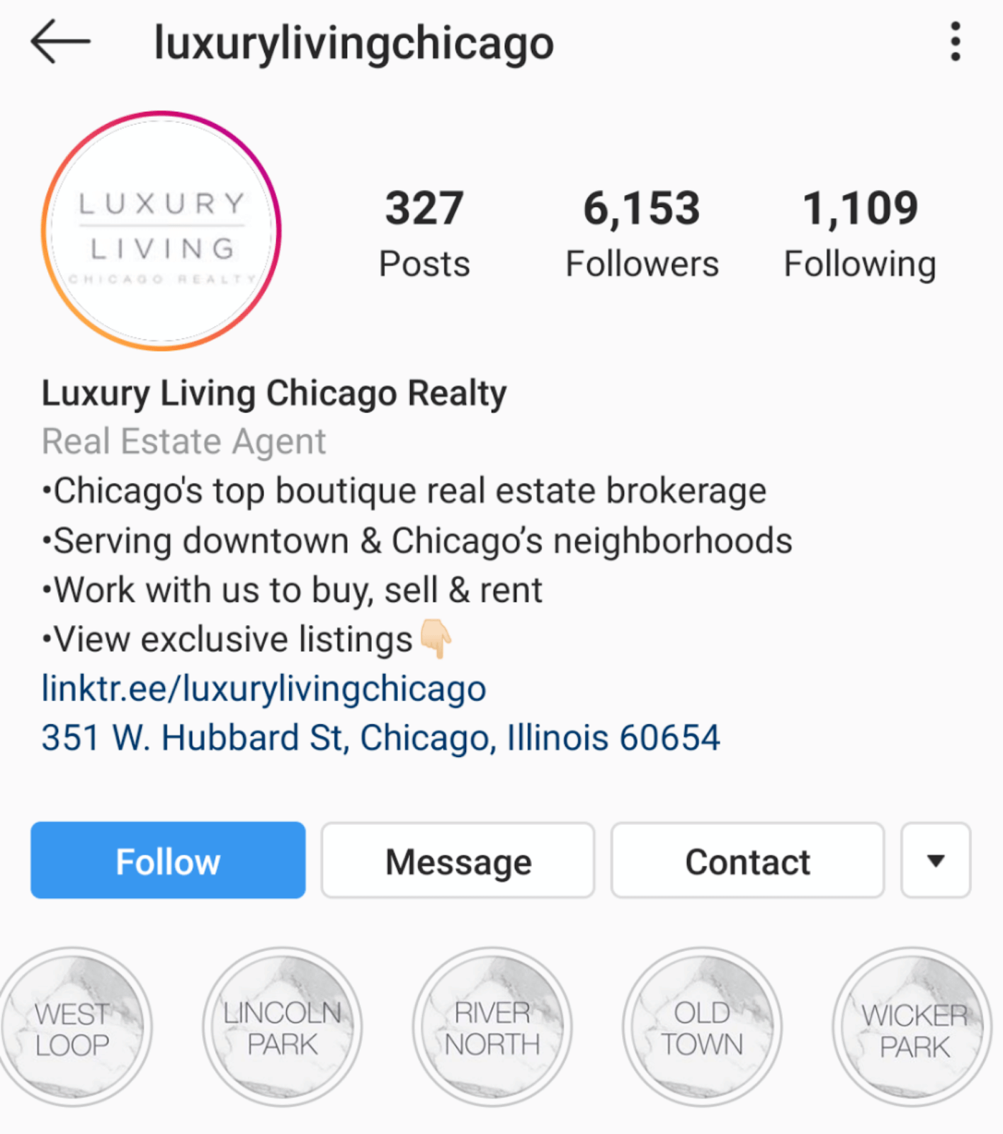 instagram account for business