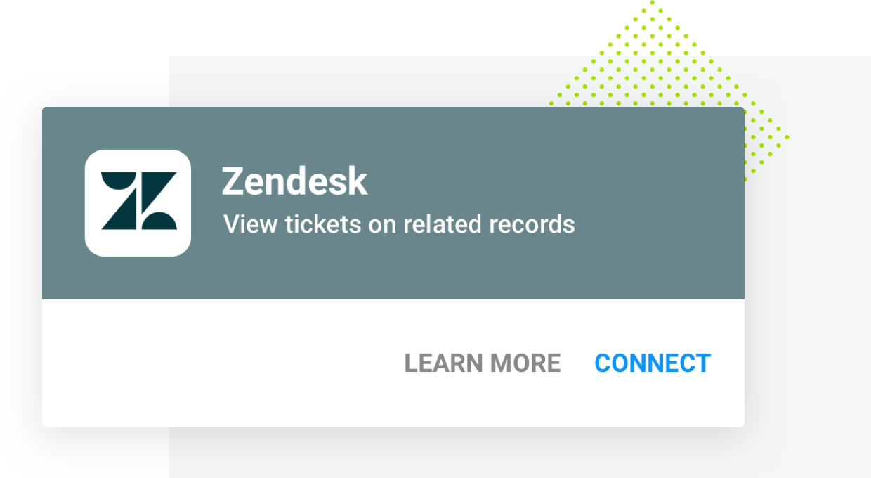 Integrations Zendesk Overview