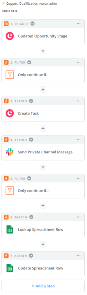 copper's workflow automation through zapier