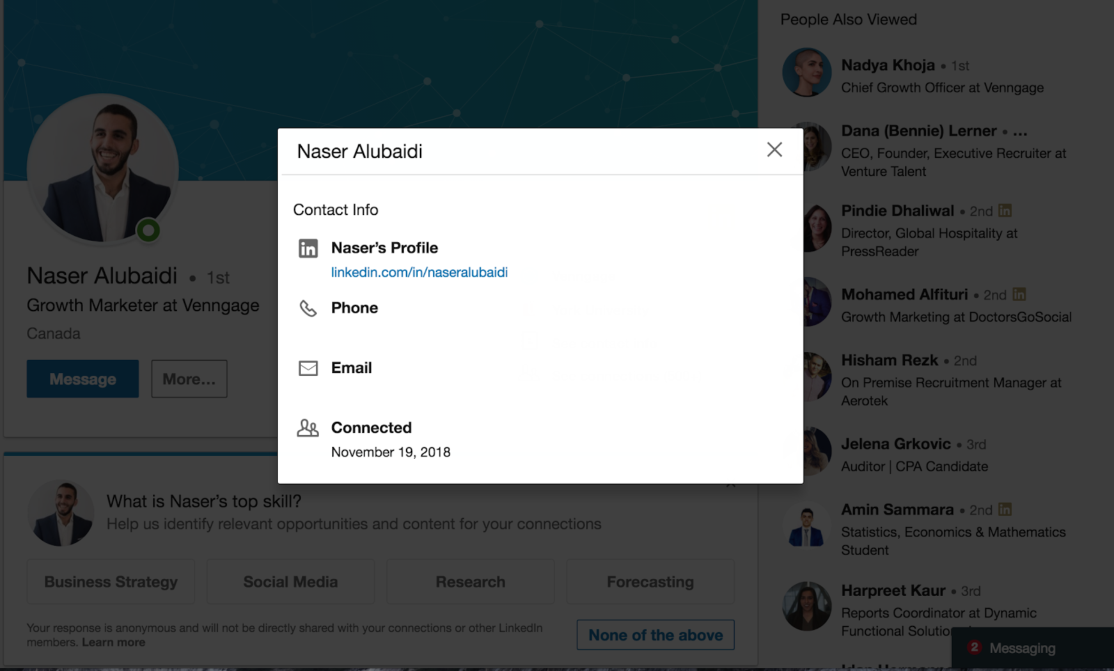 how to find someone's email on linkedin.