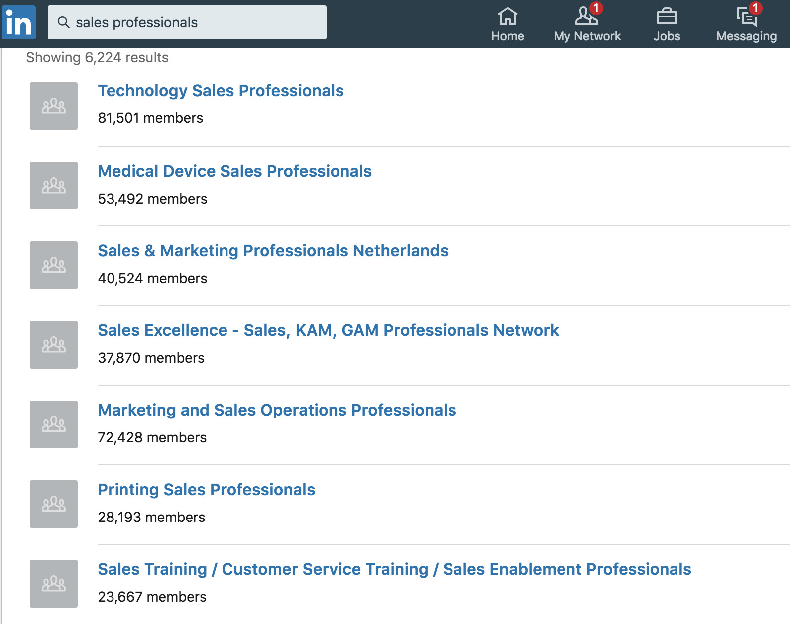 LinkedIn sales groups to join.