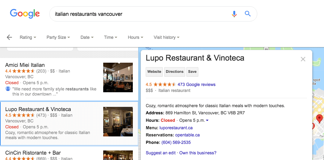 how to make sure small businesses are seen on google's local search