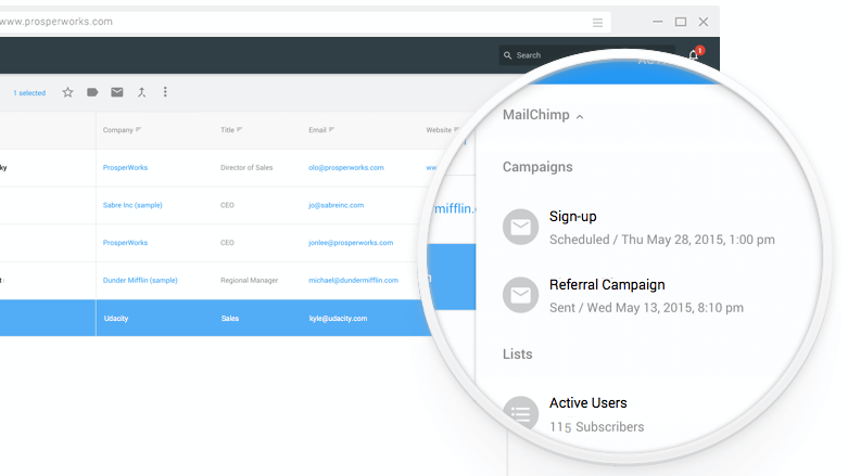 next email campaigns in copper crm